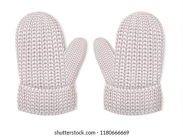 Winter gloves mittens icon. Realistic illustration of winter gloves mittens vector icon for web design isolated on white background