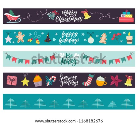 Winter Holiday Banners Job Listing Banners