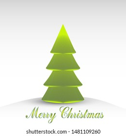Winter Holiday cartoon pattern. Christmas tree  illustration isolated on white background. Merry Christmas and New year Vector. Template design for invitation, poster, card.