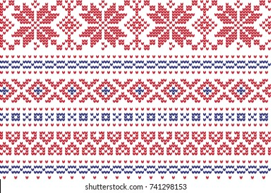 Winter Holiday Knitting Pattern with a Christmas Trees. Christmas Knitting Sweater Design. Wool Knitted Texture