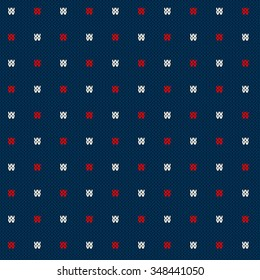 Winter Holiday Seamless Knitted Pattern. Abstract Sweater Design