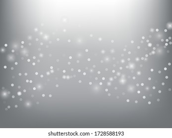 Winter Holidays Falling Snow Vector Background.