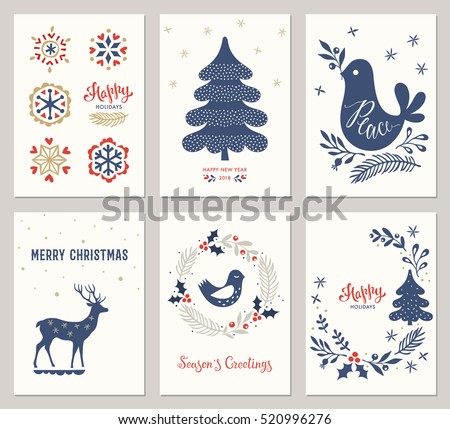 Winter holidays greeting cards vector illustration stock vector winter holidays greeting cards vector illustration m4hsunfo