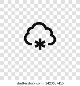 winter icon from miscellaneous collection for mobile concept and web apps icon. Transparent outline, thin line winter icon for website design and mobile, app development