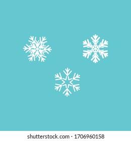 Winter icon vector snowflake sign.set
