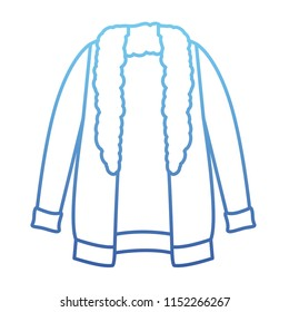 winter jacket clothes icon