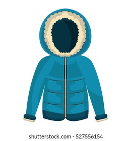 winter jacket clothes isolated icon