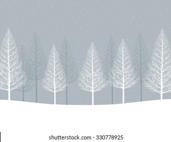 Winter landscape. Forest