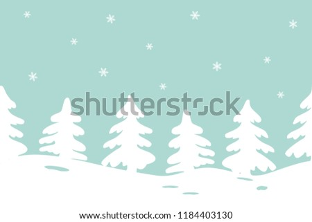 winter landscape seamless border it can be used for christmas and new year decoration