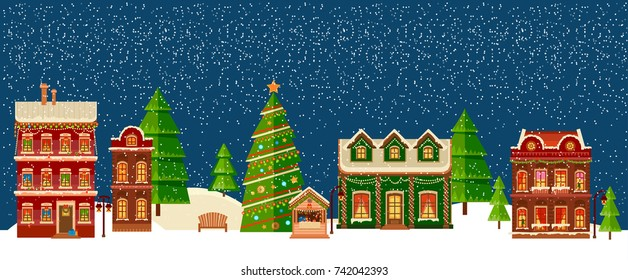 Christmas Town.Christmas Town Banners Stock Illustrations Images Vectors
