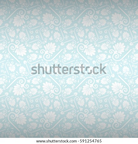 70611a300f947 Winter light blue and gray fancy seamless pattern in tribal style. Vector  background.
