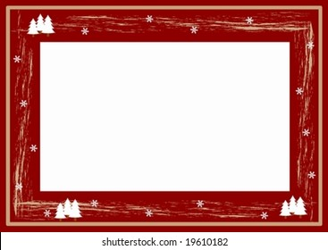 winter photo frame