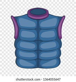 Winter quilted waistcoat icon in cartoon style isolated on background for any web design