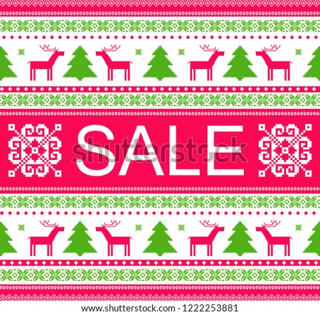 winter sale banner ad template christmas stock vector royalty free
