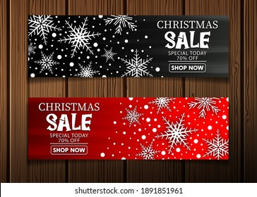 Winter sale banner background. Vector