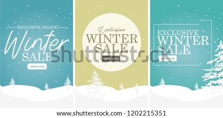 Winter Sale Banners Snow Banners