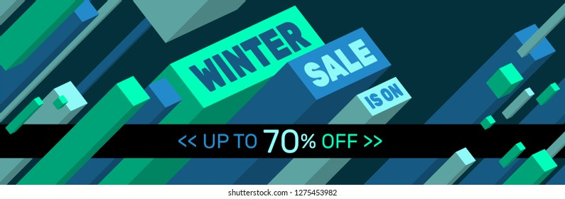 WINTER SALE IS ON - Banner design - Up to 70% off