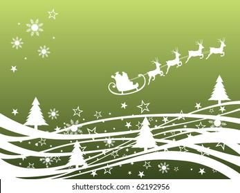 winter scene - christmas card - vector