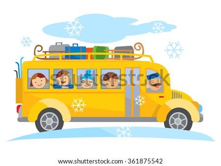 Cartoon Bus suku puoli