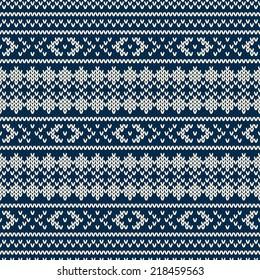 Winter Seamless Knitted Pattern