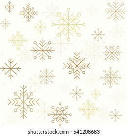 Winter seamless pattern with snowflakes. Vector illustration for greeting cards, website and mobile banners, marketing material.