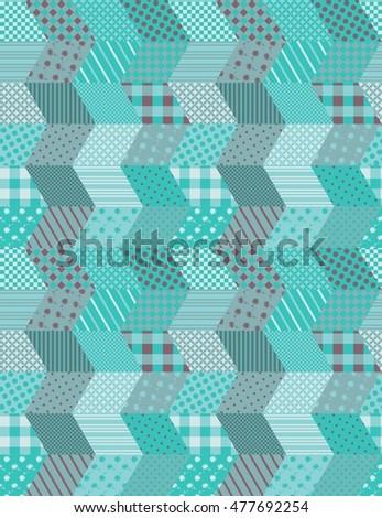 Pattern Zigzag Seamless Winter Stock Patchwork Vector wON08PXnZk
