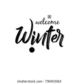 Winter Season, Winter Background, Easy to Edit, Vector Illustration.