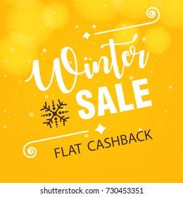 Winter Season Sale design background, Vector Illustration.