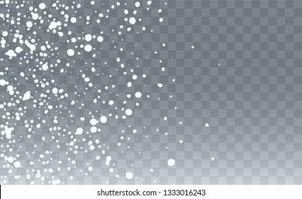 Winter Snowfall Background. Fantasy Holiday Vector Illustration. Realistic Falling Snow Background. Fantasy  Snowstorm Illustration Design.