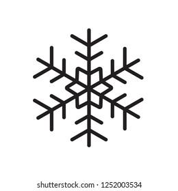 Winter snowflake icon. Snow vector sign. Snowflake linear icon