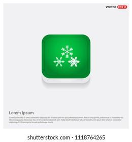 Winter snowflake iconGreen Web Button - Free vector icon