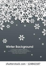 Winter snowflakes background eps10