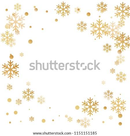 winter snowflakes circles border vector illustration stock vector