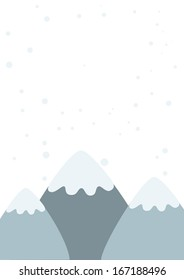 Winter snowy mountain landscape