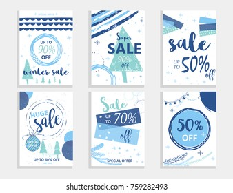 Merry Christmas Text On Winter Background Stock Vector Royalty Free