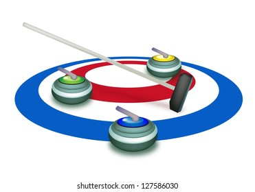 how to draw a curling rock