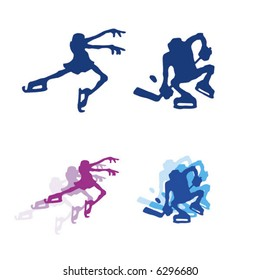 Winter sport. See the entire series. Simple vector.