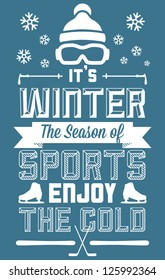 Winter Sports Fun and Entertainment Greeting Card