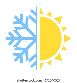winter and summer icon. Vector illustration