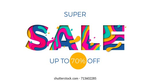 Winter super sale text banner for seasonal holiday shopping discount promo offer. Vector blue font design template for Christmas or New Year Germany store or shop sale vector background