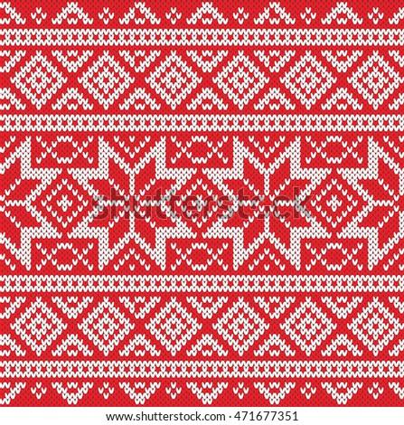 4c1672b84648 Winter Sweater Design Seamless Knitting Pattern Stock Vector ...