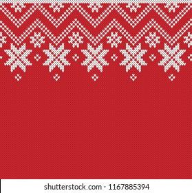 Winter Sweater Fairisle Design. Seamless Knitting Pattern