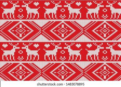 The Winter Sweater Fairisle Design. Seamless Knitting Pattern