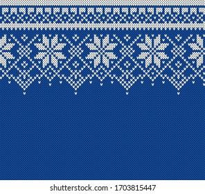 Winter Sweater Fairisle Design. Seamless Knitting Pattern.