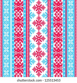 Winter sweater traditional nordic seamless pattern