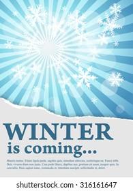 Winter text theme