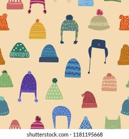 winter theme seamless pattern design