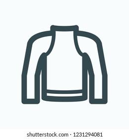 Winter thermal underwear icon, thermal underwear for motorcyclist (motor biker) vector icon
