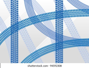 Winter tire tracks pattern illustration background vector