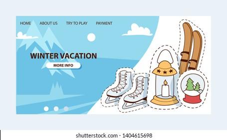 LET IT SNOW Sticker Car Window Vinyl Decal Cute Ski Skate Ice Winter Christmas
